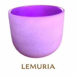 lila Kristallklangschale Lemuria 20 cm Durchmesser